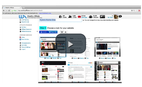 Wealthy Affiliate Create A Website In 30 Seconds