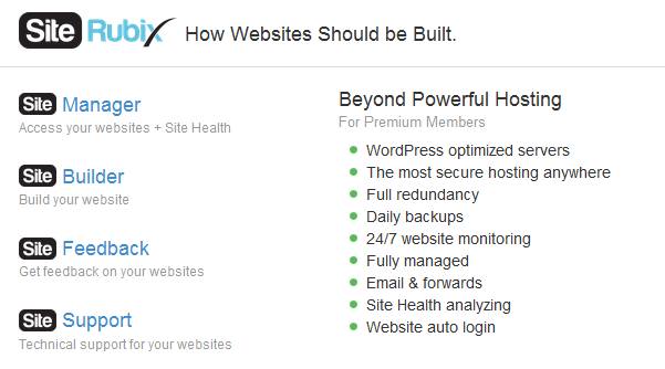 Wealthy Affiliate Hosting use Site Rubix