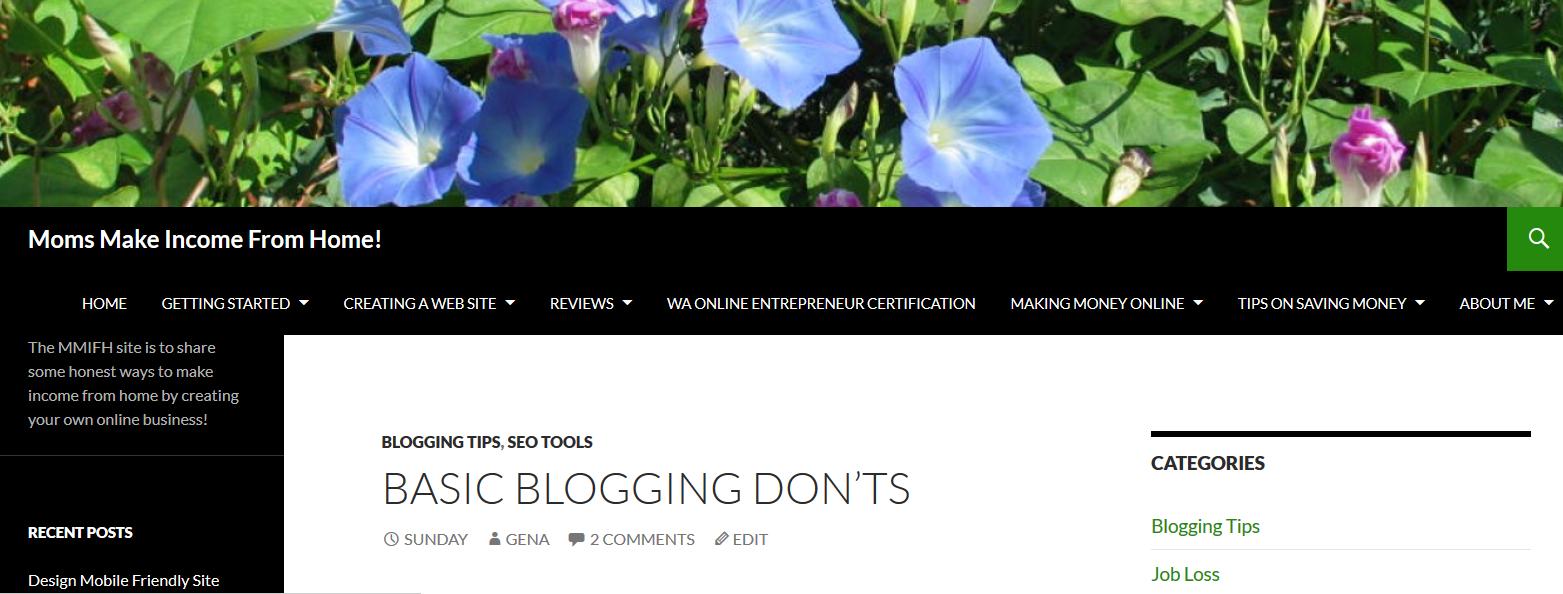 Blog appearance