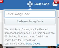 Enter Swag Code
