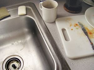 Don't be distracted by dirty dishes in the kitchen