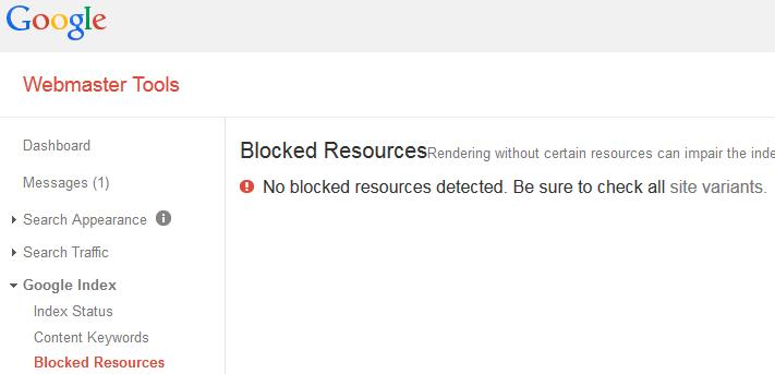 Blocked Resources Test