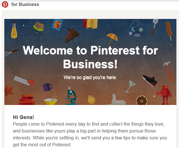 Welcome to Pinterest fpr Business!