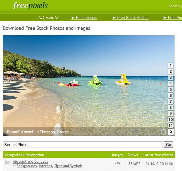 Free Pixels site